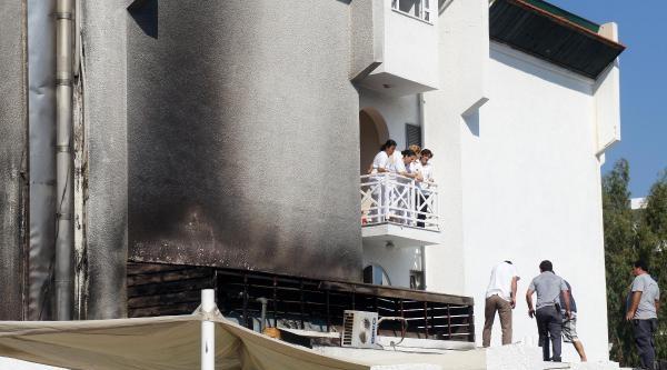 Otelin Kazan Dairesinde Yangın Çikti