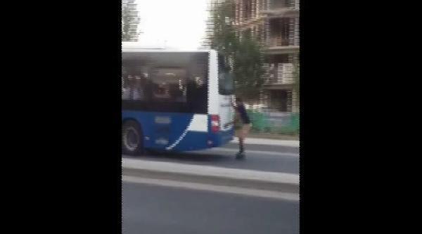 Otobüsün Arkasına Tutunan Patencinin Tehlikeli Yolculuğu