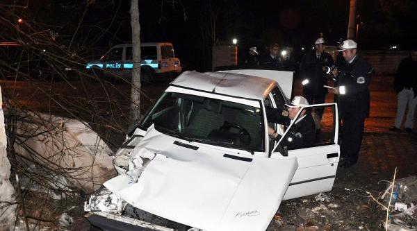 Otomobil Evin Bahçesine Düştü: 3 Yarali