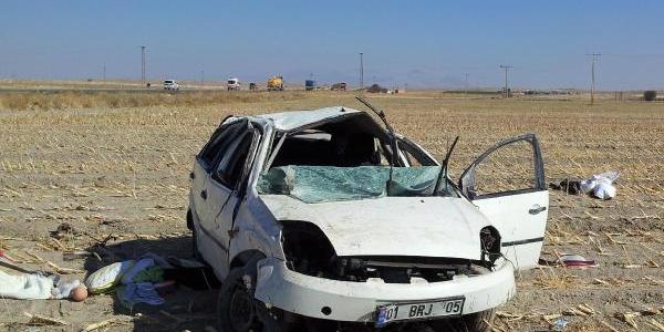 Otomobil Takla Atti: 1 Ölü, 3 Yarali
