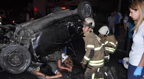 Otomobil Takla Attı: 2 Kişi Ağır Yaralandı