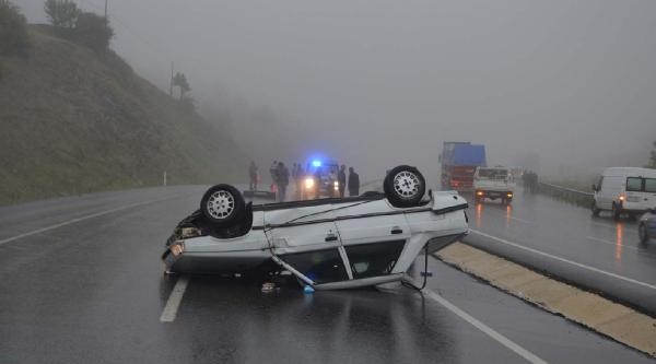 Otomobil Takla Attı: 2'si Çocuk 4 Kişi Yaralandı
