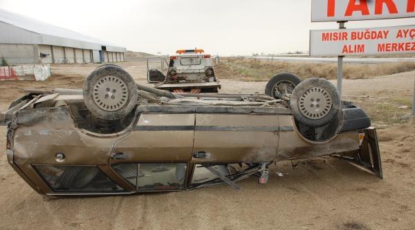 Otomobil Takla Attı, Sürücü Öldü