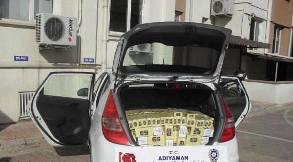 Otomobildeki 12 Bin Kaçak Sigaraya 3 Gözaltı