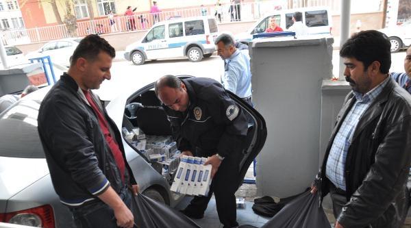 Otomobildeki Kaçak Sigaraya Gözaltı