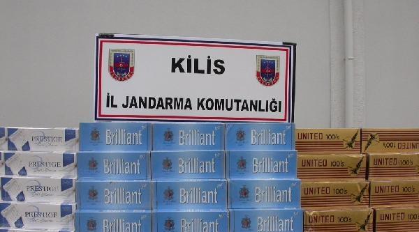 Otomobilden 14 Bin Paket Kaçak Sigara Çikti