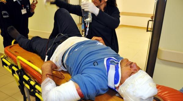 Otomobilin Çarpmasiyla Yaralandı