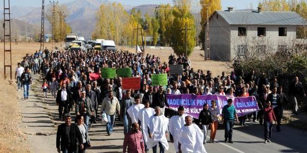 Ovacik'ta Siyanürle Altin Çikarmaya Kefenli Protesto