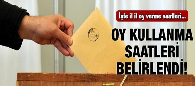 Oy kullanma saatleri belirlendi! İşte il il oy verme saatleri!