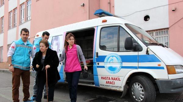 Oy Kullanmaya Ambulansla Gitti