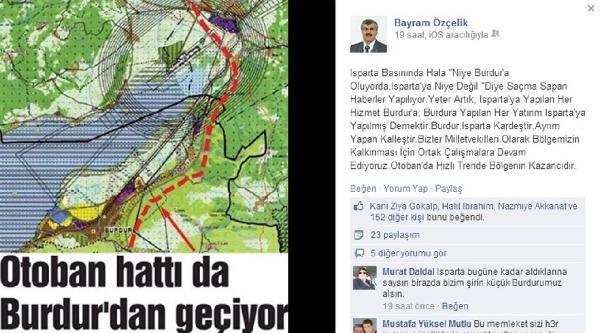 Özçelik: Burdur- Isparta Kardeştir, Ayrım Yapan Kalleştir