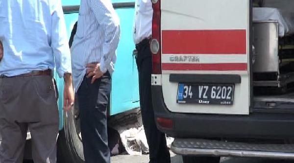 Özel Halk Otobüsünün Ezdiği Kadın Hayatını Kaybetti