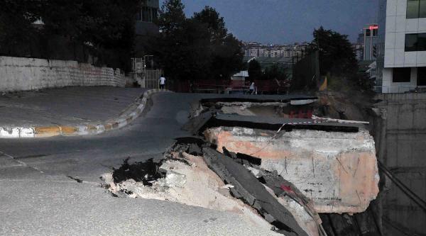 (özel) Maltepe'de Yan Yol Çöktü