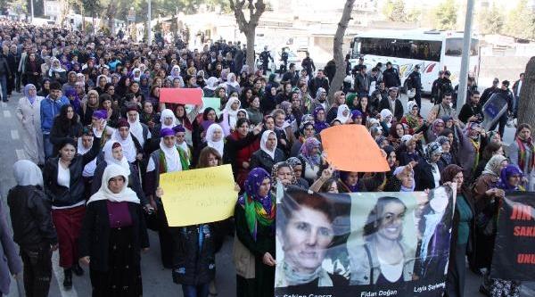 Paris'te Öldürülen 3 Kadin Pkk'li, Şanliurfa'da Yürüyüşle Anildi