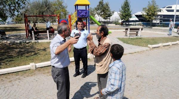 Parklarda Kalan  Suriyelilere Zabıta Operasyonu