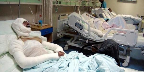 Patlamalarda Yaralanan Suriyeliler, Gaziantep'te Tedavi Ediliyor