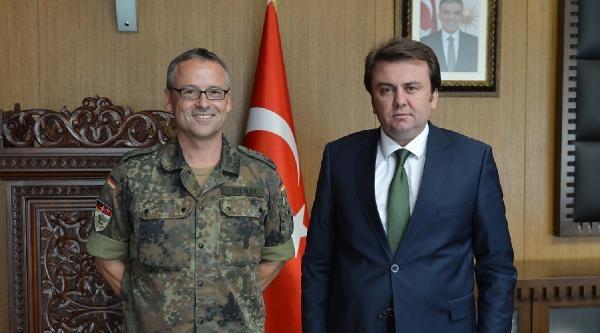 Patriot Komutanı Drexler, Belediye Başkanı  Erkoç'u Ziyaret Etti