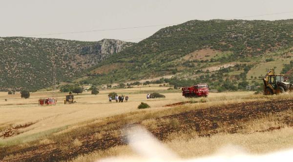 Pazarcık'ta 100 Dönüm Buğday Yandı