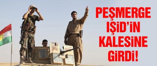 Peşmerge IŞİD'in kalesinde zafer turu attı!