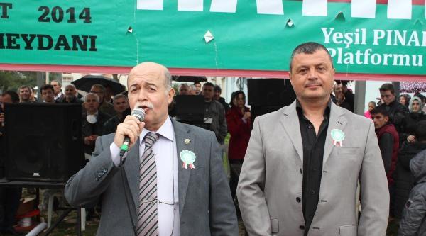 Pınarbaşı'nda Taş Ocağı Eylemi