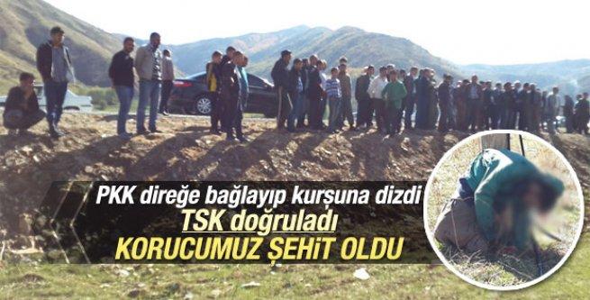 PKK Bitlis'te kaçırdığı köy korucusunu kurşuna dizdi