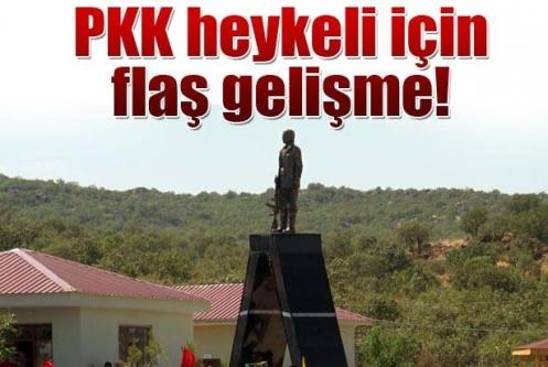 PKK mezarlığındaki heykele suç duyurusu