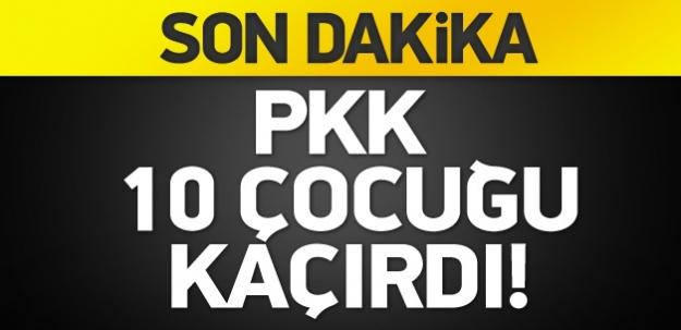 PKK, Muş'ta 10 çocuğu kaçırdı