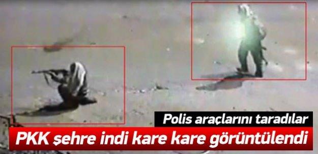 Pkk şehre indi! Polis araçlarını taradılar!