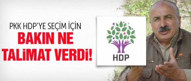 PKK'dan HDP'ye 2015 genel seçim talimatı!