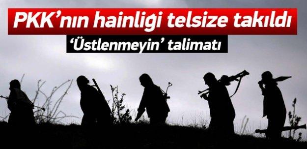 PKK'nın hainliği telsize takıldı