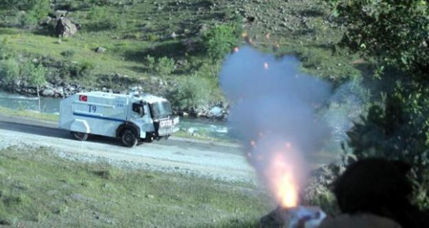 PKK'nın yol kontrolüne asker ve polisten müdahale