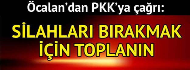 PKK'ya çağrı: Silah bırakmak için toplanın