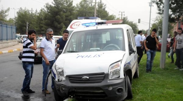 Polis Aracı Kaza Yaptı: 2'si Polis 3 Kişi Yaralandı