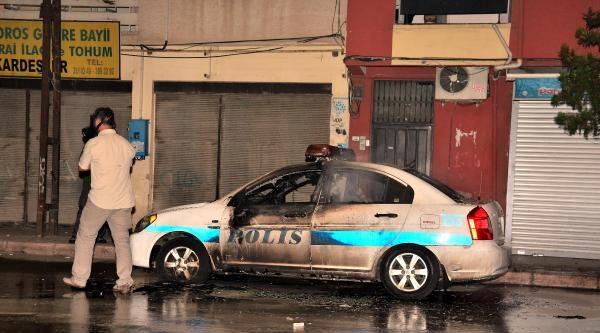 Polis Aracını Yaktılar