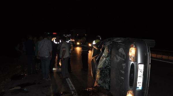 Polis Memuru Kazada Can Verdi, Eşi Ve 3 Çocuğu Yaralandı
