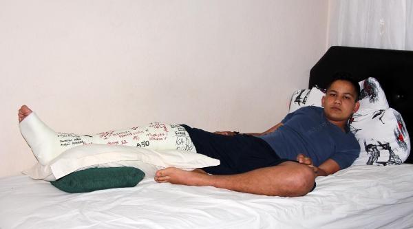 Polisin Kayalıklarda İttiği  Liselinin Bacağı Kırdı