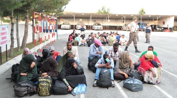 Polisten Kaçan Minibüste 46 Kaçak Yakalandı