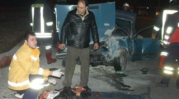 Polisten Kaçarkan Kaza Yapan Sürücü Ölümden Döndü