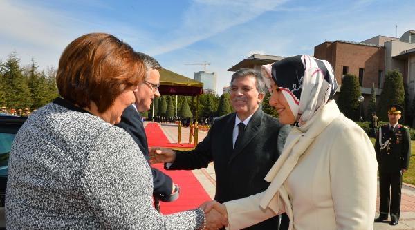 Polonya Cumhurbaşkanı Komorowski Çankaya Köşkü'nde