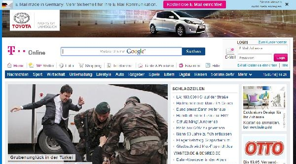 'protestocuya Tekme' Almanya'nın Popüler Sitesinin De Manşetinde