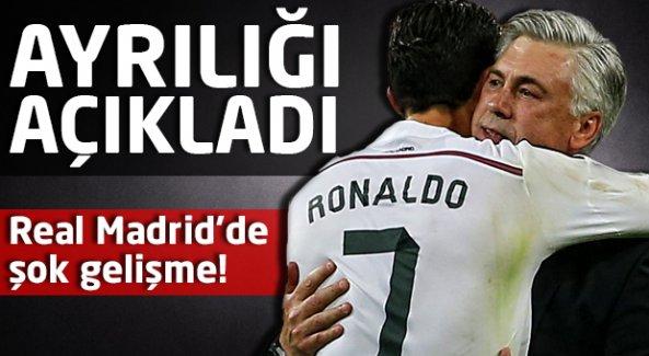 Real Madrid'de şok! Ayrılığı açıkladı...