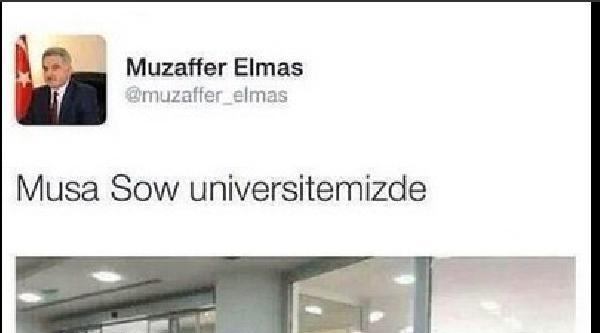 Rektörden  'musa Sow Üniversitemizde' Tweeti