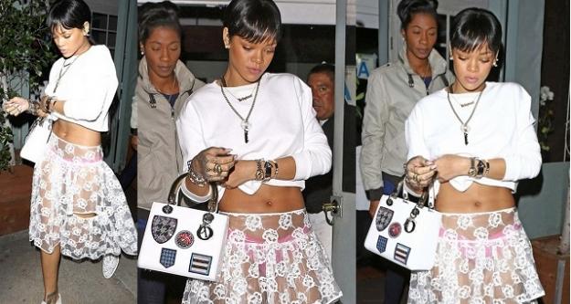 Rihanna iyice abarttı...