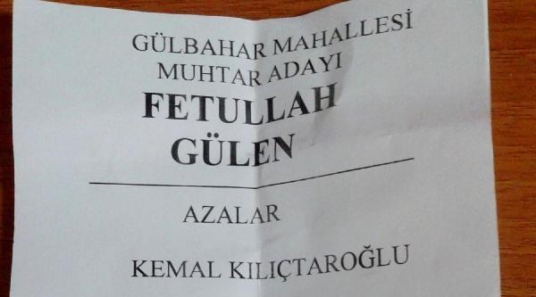 Rize'de Fetullah Gülen Adına Muhtar Adayı Pusulası Dağıtıldı