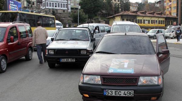 Rize'De 'ithal Aday Protesto' Konvoyu