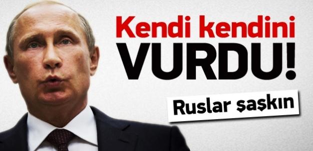 Rusya, kendi kendini vurdu!