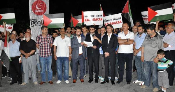 Saadet Partisi'nden İsrail Protestosu