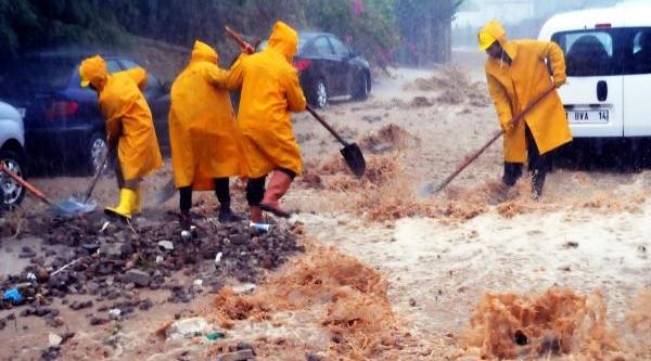 Sağanak Yağmur Bodrum'U Da Vurdu