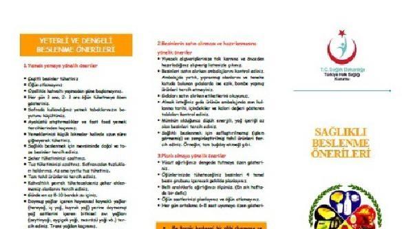Sağlık Bakanlığı'ndan Sağlıklı Ve Dengeli Beslenme Broşürü