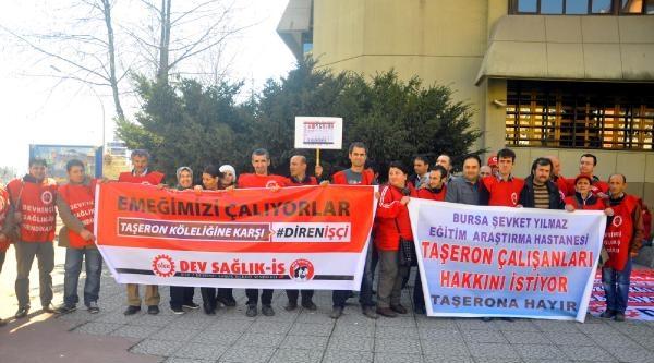 Sağlık İşçilerinden Ak Parti Önünde Eylem